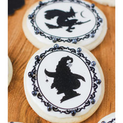 Halloween Cameo Witch Silhouettes Wafer Paper