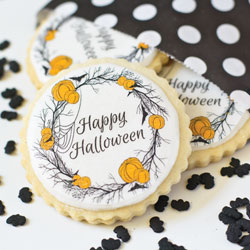 Happy Halloween Wreath Wafer Paper
