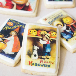 Mini Halloween Postcards Wafer Paper
