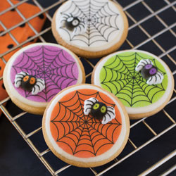 Colorful Spider Web Wafer Paper