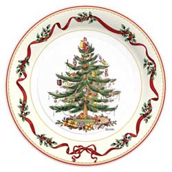 SALE!  Holly Ribbon Paper Luncheon Plates