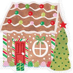 Gingerbread House Paper Lunch Napkins  sc 1 st  Fancy Flours & Paper Plates Napkins \u0026 Partyware - Gingerbread House Paper Lunch ...