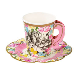 Truly Alice Paper Cup & Saucer Set
