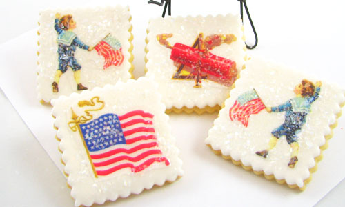 Mini Patriotic Wafer Paper Cookie How-To