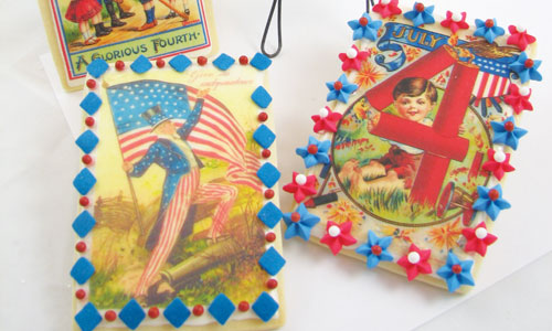 Vintage Patriotic Wafer Paper Cookies How-To