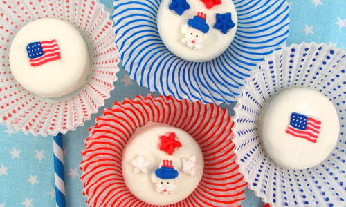 Patriotic Sugars Oreo Cookies How-To
