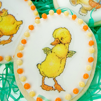 Bunnies & Chicks Wafer Paper Cookies How-To