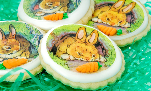 Easter Bunnies Wafer Paper Cookies How-To
