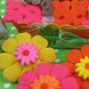 Colorful Flower Cookies Recipe