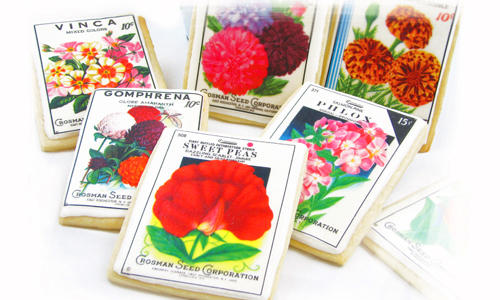 Vintage Flower Seed Packet Cookies How-To