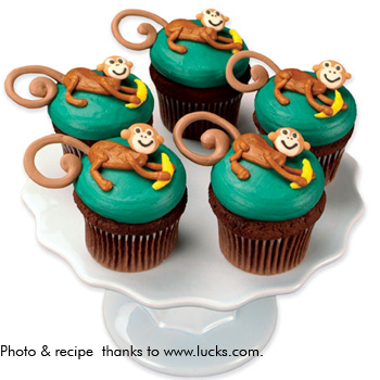 jungle monkey cupcakes how to go bananas with these