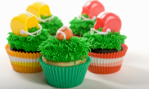 Grassy Football Cupcakes How-To