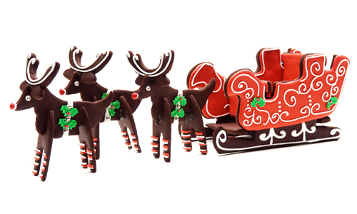 3D Reindeer & Sleigh Cookies How-To
