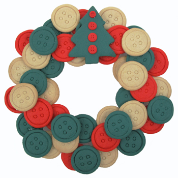 Button Cookie Wreath Recipe