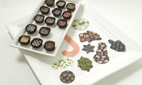 Chocolate Transfer Shapes How-To