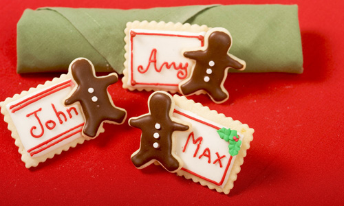 Gingerbread Man Place Card Cookies How-To