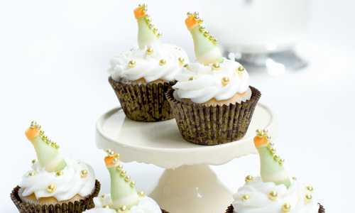 New Year Bubbly Cupcakes How-To