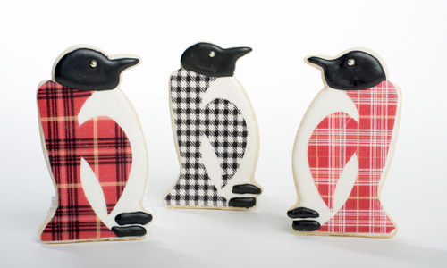 Plaid Penguin Cookies How-To