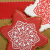 Snowflake Stencil Cookies How-To