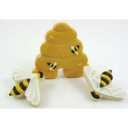 Beehive and Bee Cookie Cutter Set