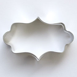 Cookie Cutter Rectangle Plaque