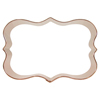 Cookie Cutter Fancy Plaque Rectangle  4.25 X 3, Copper