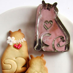 Cat with Heart Cookie Cutter, Hammer Song