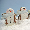 Cookie Cutter Snowman with Scarf, Tin 3.5 x 3.25: