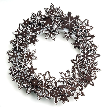 Cookie Snowflake Wreath How-To