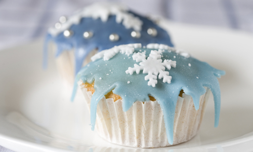 Snowflake Cupcakes How-To