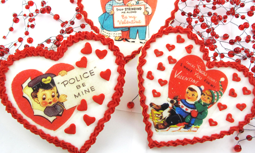 Retro Valentine Cookies How-To