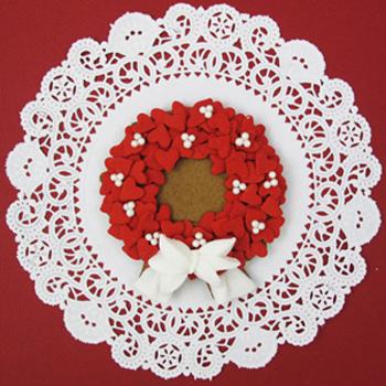 Valentine Cookie Wreath How-To