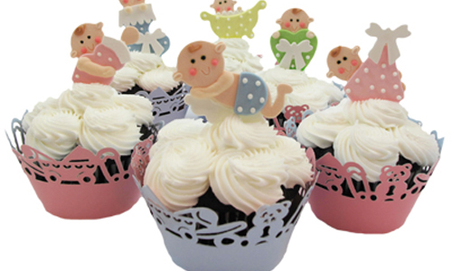 Fondant Baby Cupcakes How-To