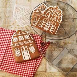Winter Village Cutter & Stencil Set
