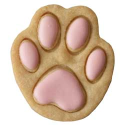 Small Dog Paw Cookie Cutter