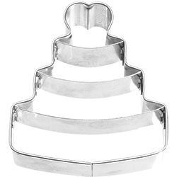 Wedding Cake with Heart Cookie Cutter