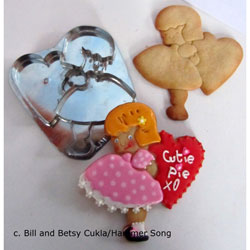 Girl With Valentine Cookie Cutter, Hammer Song