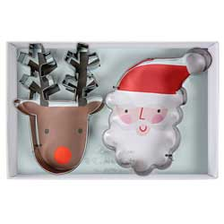 Christmas Santa & Reindeer Cookie Cutter Set
