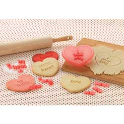 SALE!  Heart Message Cookie Cutter & Stamp Set