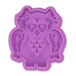 SALE! Happy Owl Cookie Stamp & Cutter
