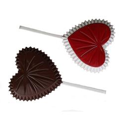 Crystal Heart Lollipop Chocolate Mold