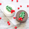 Chocolate Covered Oreo Holly Leaf Mold