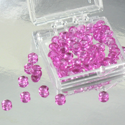 Hot Pink 4mm Diamond Droplets Edible Sugar Cake Jewels