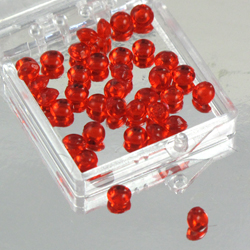 Ruby Red 4mm Diamond Droplets Edible Sugar Cake Jewels