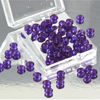 Edible Diamond Droplets Sugar Cake Jewels, VIOLET 5mm
