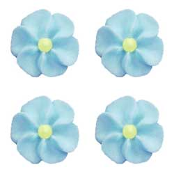LTD QTY! Flower Blue Small Icing Decorations