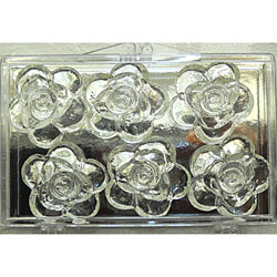 Clear Edible Sugar Tea Roses