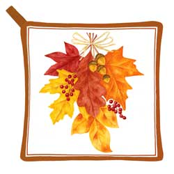 SALE!!  Autumn Leaves Potholder
