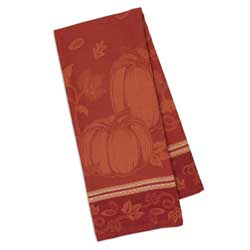 LTD QTY! Pumpkin Vine Jacquard Dishtowel