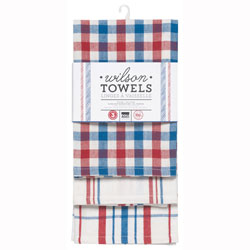 SALE!  Patriotic Woven Dishtowel Set